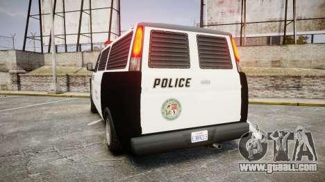 Declasse Burrito Police Transporter ROTORS [ELS] for GTA 4 back left view
