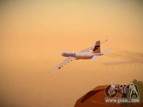 Airbus A340-300 Finnair for GTA San Andreas interior