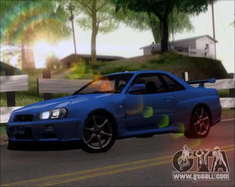 Nissan Skyline GT-R R34 V-Spec II for GTA San Andreas left view