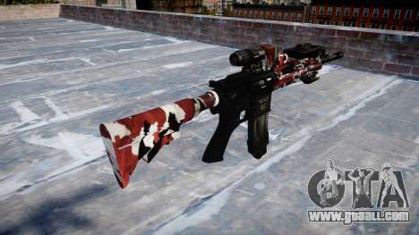 Automatic rifle Colt M4A1 are bloodshot for GTA 4 second screenshot