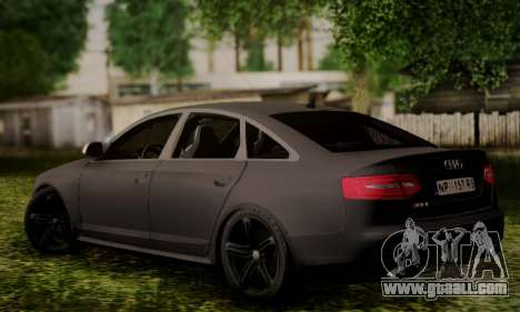 Audi RS6 for GTA San Andreas left view