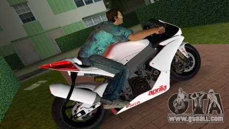 Aprilia RSV4 2009 White Edition I for GTA Vice City left view