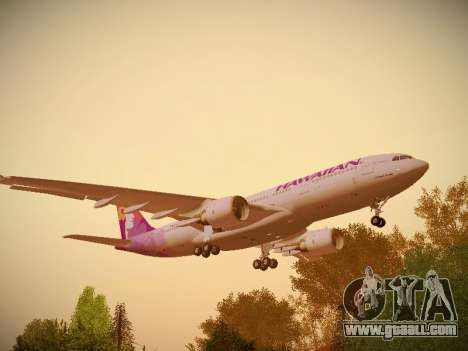 Airbus A330-200 Hawaiian Airlines for GTA San Andreas right view