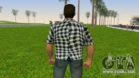 Kockas polo - fekete T-Shirt for GTA Vice City forth screenshot