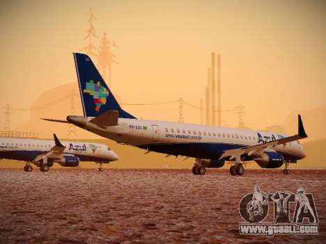 Embraer E190 Azul Brazilian Airlines for GTA San Andreas back view