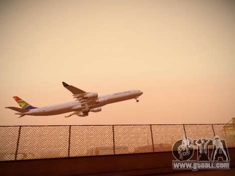 Airbus A340-600 South African Airways for GTA San Andreas back left view