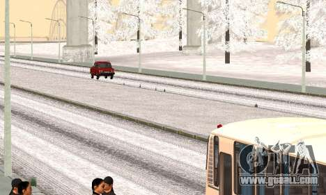 Snow for GTA Criminal Russia beta 2 for GTA San Andreas second screenshot