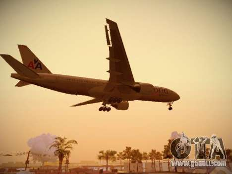 Boeing 777-223ER American Silver Bullet for GTA San Andreas side view