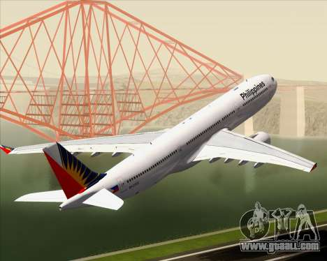 Airbus A330-300 Philippine Airlines for GTA San Andreas wheels