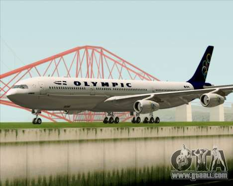 Airbus A340-313 Olympic Airlines for GTA San Andreas left view