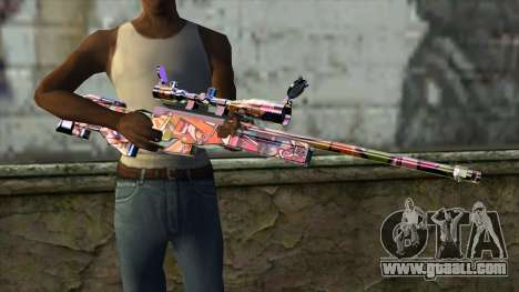 Graffiti Sniper Rifle for GTA San Andreas third screenshot
