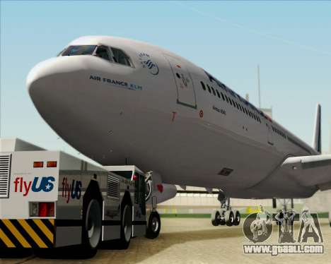 Airbus A340-313 Air France (New Livery) for GTA San Andreas side view