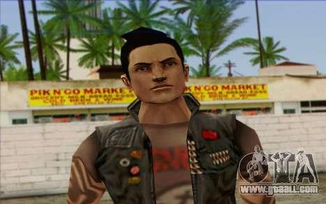 Claude in Pank Style for GTA San Andreas third screenshot