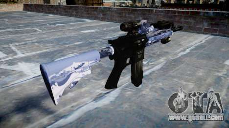 Automatic rifle Colt M4A1 blue tiger for GTA 4 second screenshot