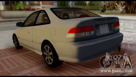 Honda Civic Si 1999 for GTA San Andreas left view