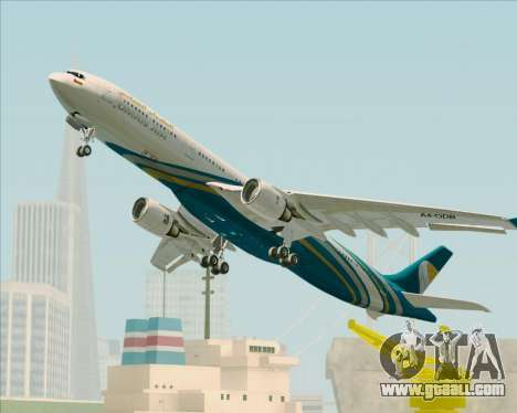 Airbus A330-300 Oman Air for GTA San Andreas upper view