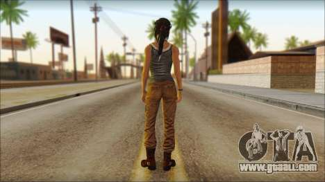 Tomb Raider Skin 11 2013 for GTA San Andreas second screenshot