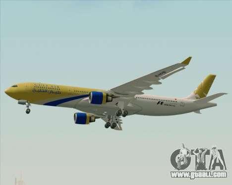 Airbus A330-300 Gulf Air for GTA San Andreas upper view
