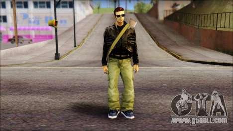 Shades and Gun Claude v2 for GTA San Andreas