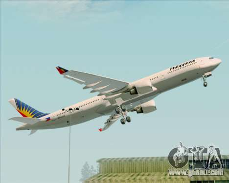 Airbus A330-300 Philippine Airlines for GTA San Andreas upper view