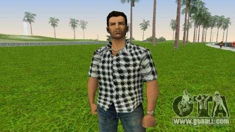 Kockas polo - fekete T-Shirt for GTA Vice City third screenshot