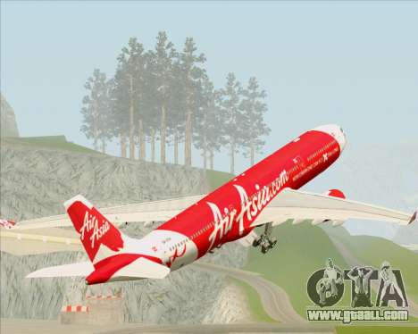 Airbus A330-300 Air Asia X for GTA San Andreas wheels