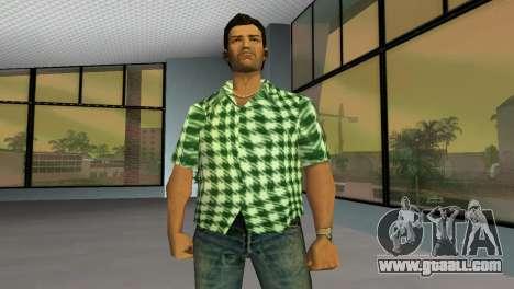Kockas polo - zold T-Shirt for GTA Vice City