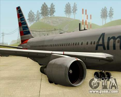 Boeing 767-323ER American Airlines for GTA San Andreas inner view