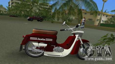 Jawa Type 20 Moped for GTA Vice City back left view