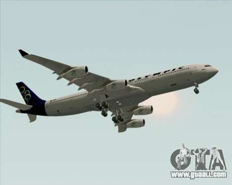 Airbus A340-313 Olympic Airlines for GTA San Andreas inner view