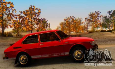 Saab 99 Turbo 1978 for GTA San Andreas back view