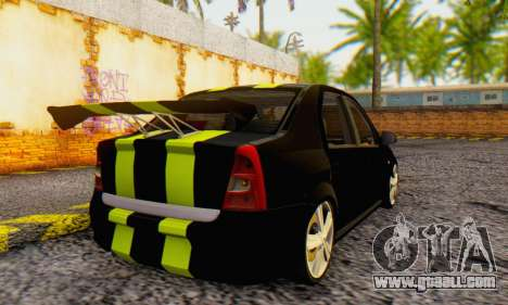 Dacia Logan Black Style for GTA San Andreas back left view
