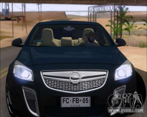Opel Insignia OPC for GTA San Andreas back view