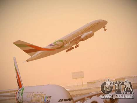 Airbus A380-800 Emirates Rugby World Cup for GTA San Andreas interior