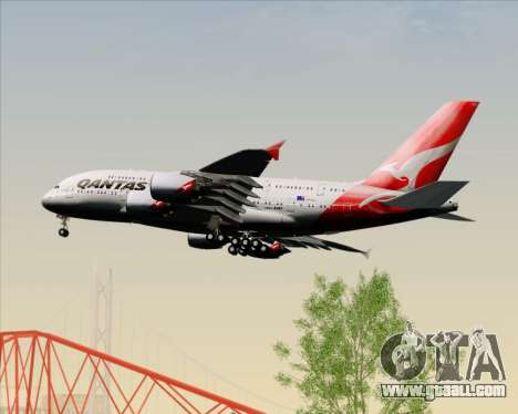Airbus A380-841 Qantas for GTA San Andreas bottom view