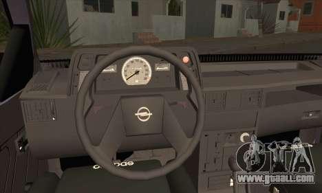 Opel Kadett for GTA San Andreas back left view