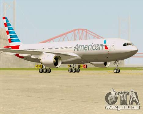 Airbus A330-200 American Airlines for GTA San Andreas left view