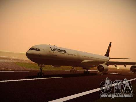 Airbus A340-600 Lufthansa for GTA San Andreas right view