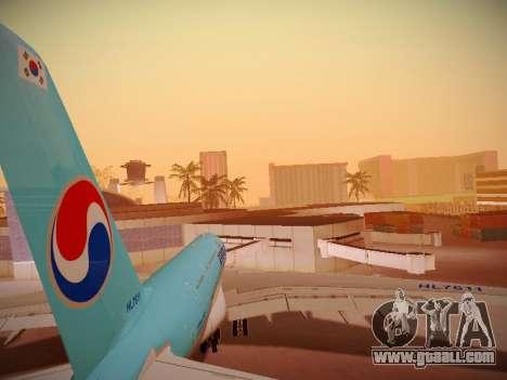 Airbus A380-800 Korean Air for GTA San Andreas engine