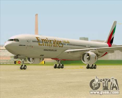 Airbus A330-300 Emirates for GTA San Andreas back left view
