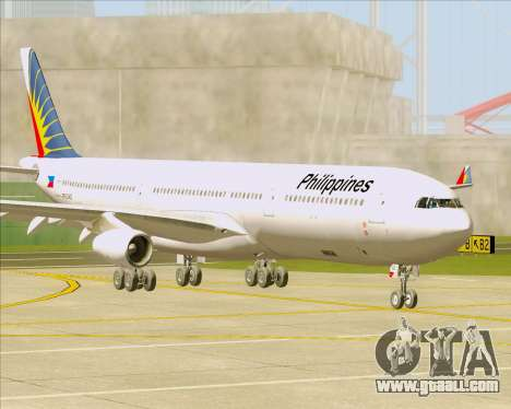 Airbus A340-313 Philippine Airlines for GTA San Andreas left view