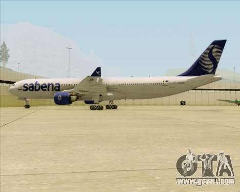 Airbus A330-300 Sabena for GTA San Andreas bottom view
