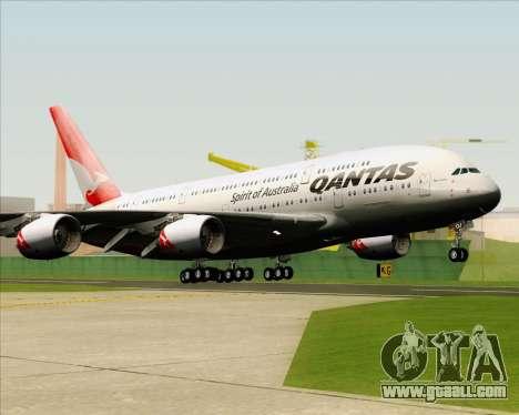 Airbus A380-841 Qantas for GTA San Andreas back view
