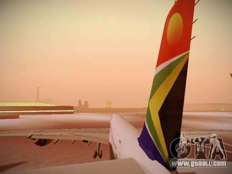 Airbus A340-600 South African Airways for GTA San Andreas engine