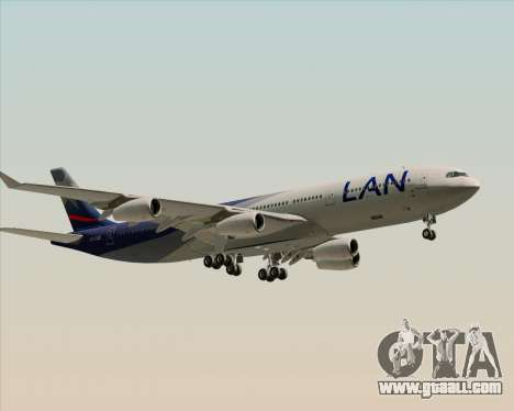 Airbus A340-313 LAN Airlines for GTA San Andreas back view
