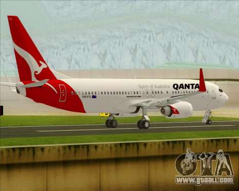 Boeing 737-838 Qantas for GTA San Andreas right view