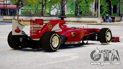 Ferrari F138 v2 for GTA 4 right view