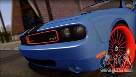 Dodge Challenger SRT8 Stance for GTA San Andreas back left view