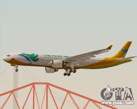 Airbus A330-300 Cebu Pacific Air for GTA San Andreas inner view