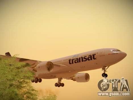 Airbus A330-200 Air Transat for GTA San Andreas upper view